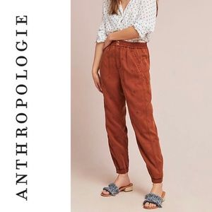 Anthropologie Rowan Embroidered Joggers